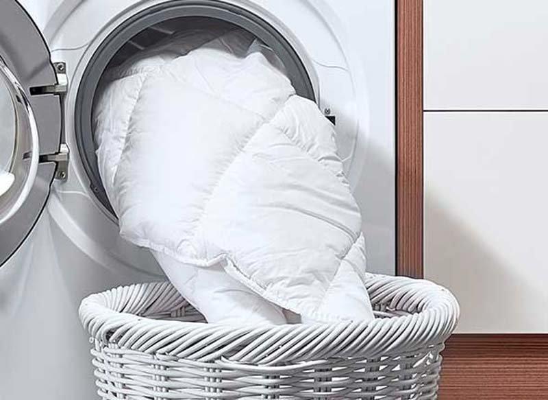 Wollen dekbed wassen