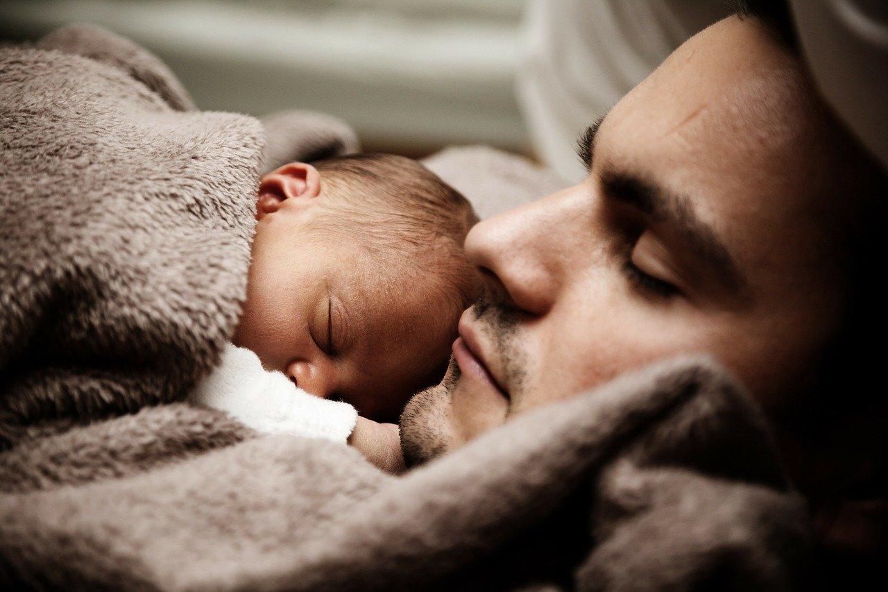 slaap-vader-zoon